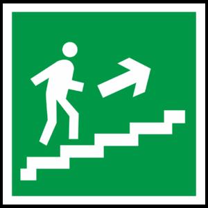 Знак E-15 «Направление к эвакуационному выходу (по лестнице вверх)»_07617