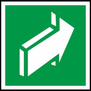 Знак E-18 «Открывать движением от себя»_07620