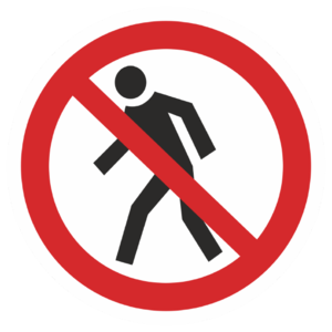 Знак P-03«Проход запрещен»_07303