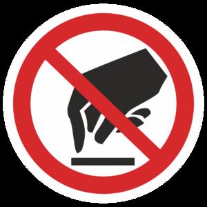 Знак P-08«Запрещается прикасаться. Опасно»_07308