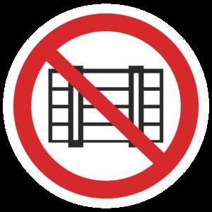 Знак P-12«Запрещается загромождать проходы и (или) складировать»_07312