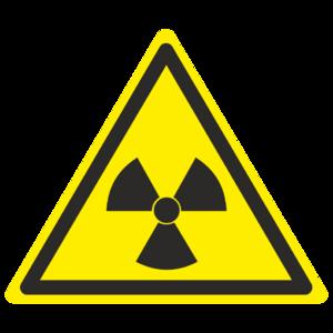 Знак W-05 «Опасно. Радиоактивные вещества или ионизирующее излучение»_07005