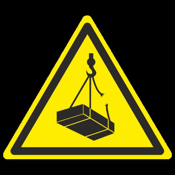 Знак W-06 «Опасно. Возможно падение груза»_07006