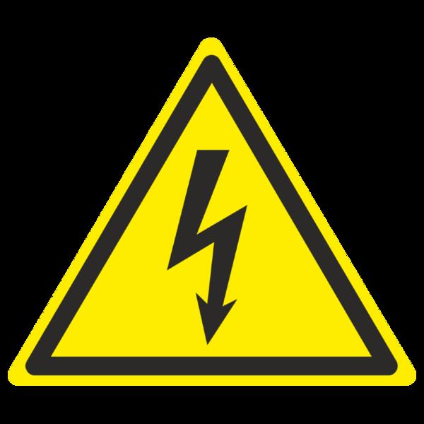Знак  W-08 «Опасность поражения электрическим током»_07008