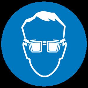 Знак M-01«Работать в защитных очках»_07401