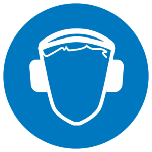 Знак M-03 «Работать в защитных наушниках»_07403
