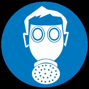Знак M-04«Работать в средствах индивидуальной защиты органов дыхания»_07404