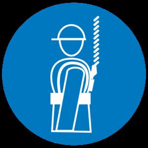 Знак M-09«Работать в предохранительном (страховочном) поясе»_07409