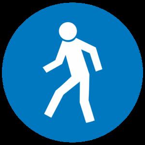 Знак M-10 «Проход здесь»_074010